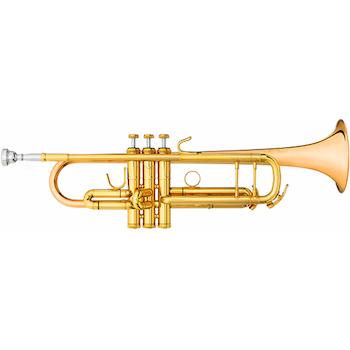 "B&S ""Challenger I"" Professional Bb Trumpet - Gold Brass Bell"