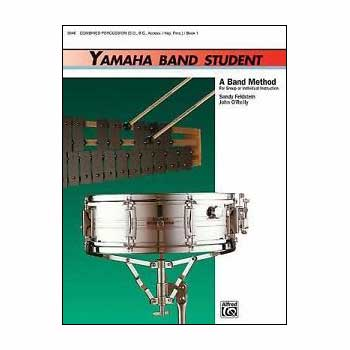 Yamaha Band Student Combined Percussion - S.D., B.D., Access., Keyboard Percussion, Book 1