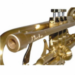 Phaeton Custom Trumpet - Antique Brushed Brass Finish