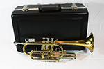 F.E. Olds  Student Cornet with Thumb Saddle, Brass Lacquer Finish
