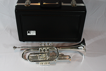 F.E. Olds  Student Cornet with Thumb Saddle, Silver Plated Finish (Discontinued)