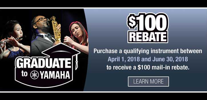 Graduate to Yamaha - Rebates