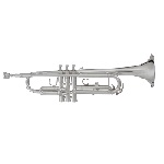 Blessing Intermediate Trumpet [Silver Finish]